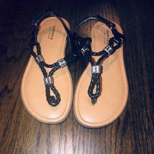 Sonoma girls sandals size 1 black